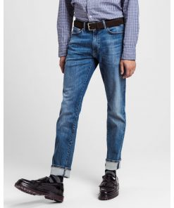 Gant Slim Active Recover Jeans Mid Blue Broken In