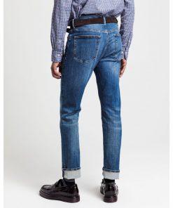 Gant Slim Active Recover Jeans Mid Blue Broken In