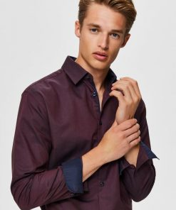 Selected Homme New Mark Slim Fit Shirt Winetasting