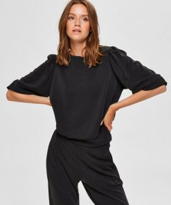 Selected Femme Tenny 3/4 Sweatshirt Black