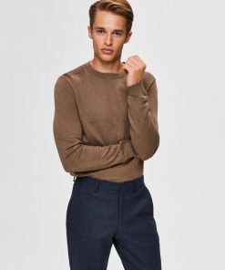 Selected Berg Crew Neck Teak