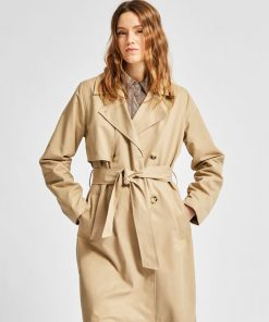 Selected Femme Weka Trench Coat Cornstalk