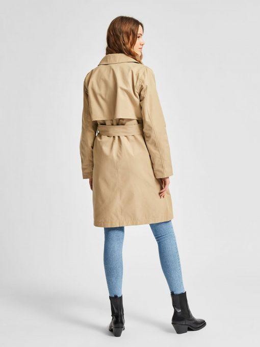 Selected Femme Weka Trench Coat Cornstalk