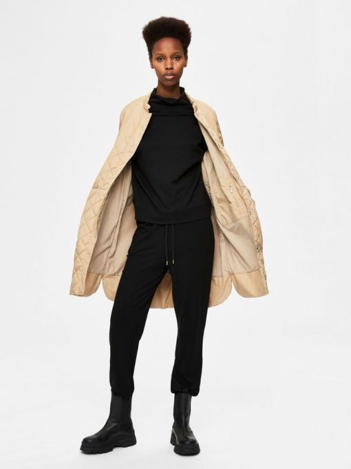 Selected Femme Fillipa Quilted Coat Cornstalk