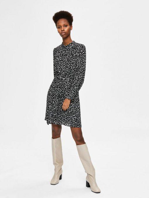 Selected Femme Livia Short Dress Black