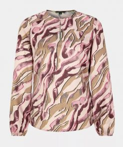 Comma, Blouse Pink Zebra Lines