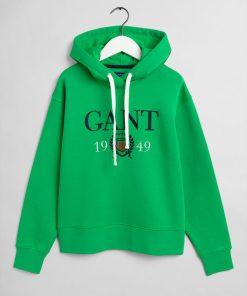 Gant Crest 1949 Hoodie Fern Green