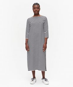 Marimekko Ilma Tasaraita Dress Black/White