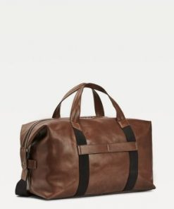 Tommy Hilfiger Leather Duffle Bag Cigar