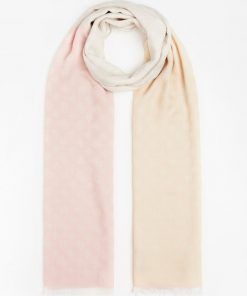 Guess 4G Peony Logo Scarf Beige
