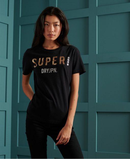 Superdry Super JPN Sequin Tee Black