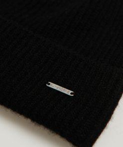 Superdry Cashmere Beanie Black