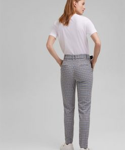Esprit Check Pants Pastel Blue