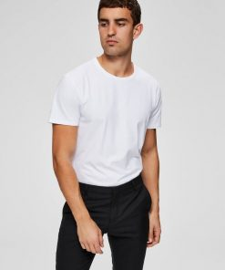 Selected Homme New Pima O-neck T-shirt White