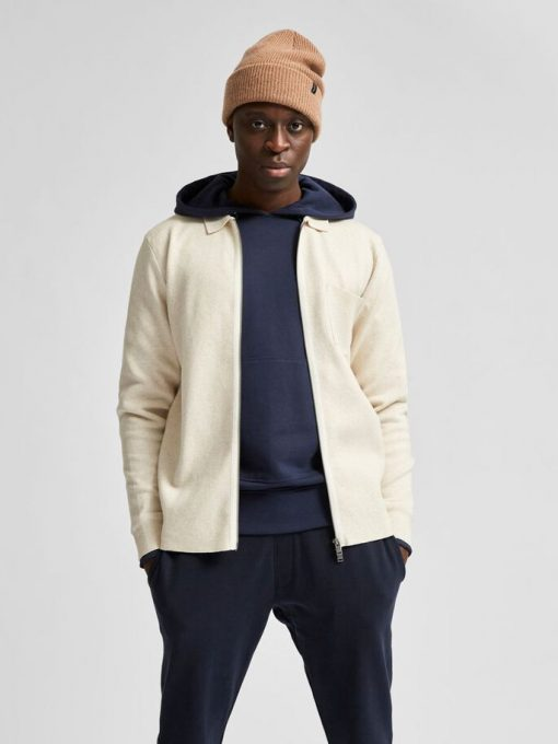 Selected Homme Will Cardigan Egret White