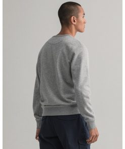 Gant Archive Shield C-Neck Grey Melange