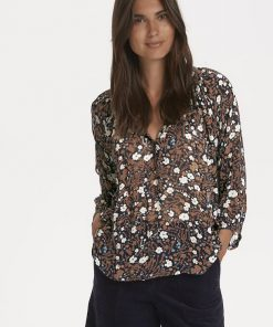 Part Two Erdonae Blouse Flower print/Nightsky