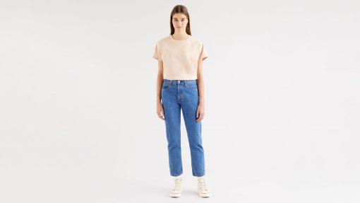 Levi´s 501 Cropped Jeans Breeze Stone