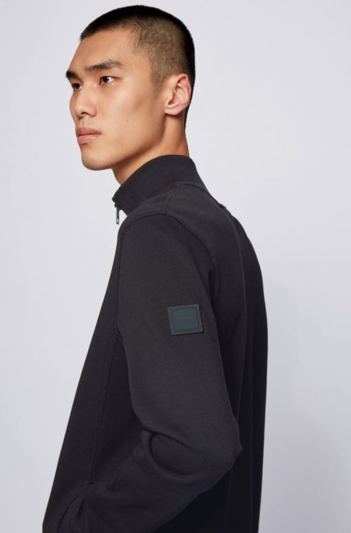 Hugo Boss Zkybox Jersey Cardigan Black