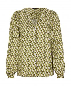 Comma, Small Graphic Blouse Spring Green