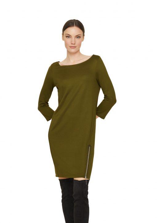 Comma Sweatshirt Tunic Deep Green