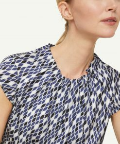 Comma Blouse Top Blue