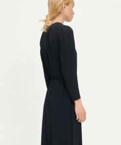 Samsoe & Samsoe Britt Wrap Dress Black