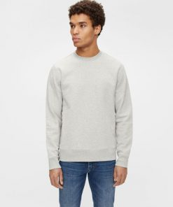 J.Lindeberg Throw Crew Neck Sweater Light Grey
