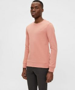 J.Lindeberg Throw Crew Neck Sweater Rose Coppar
