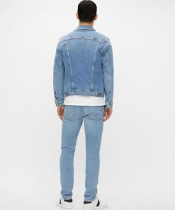 J.Lindebeg Ran Sky Wash Denim Jacket Light Blue
