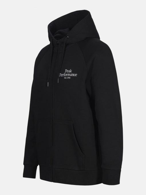 Peak Performance Original Zip Hood Men Black