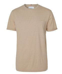 Les Deux Brenon Linen T-shirt Dark Sand