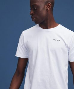 Makia Trim Backprint T-shirt White