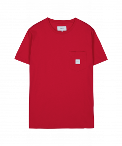 Makia Square Pocket T-shirt Red