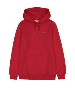 Makia Trim Hooded Sweatshirt Red