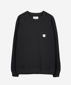 Makia Square Pocket Sweatshirt Black