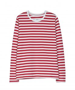 Makia Verkstad Longsleeve Women Red/White