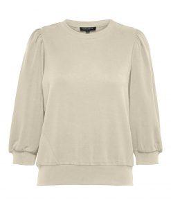 Selected Femme Tenny 3/4 Sweatshirt Sandshell