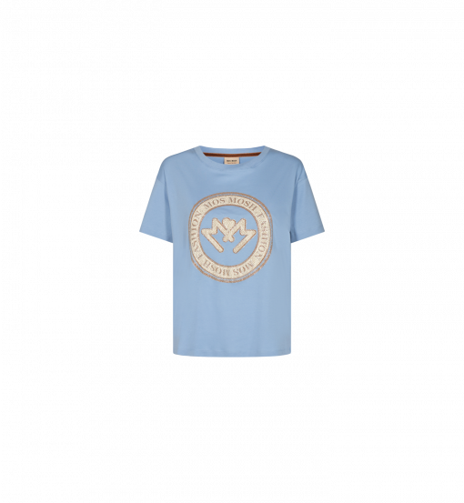 Mos Mosh Leah O-SS T-shirt Bel Air Blue