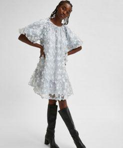 Selected Femme Alberta Dress Arctic Ice