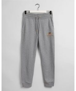 Gant Archive Shield Sweat Pants Grey Melange