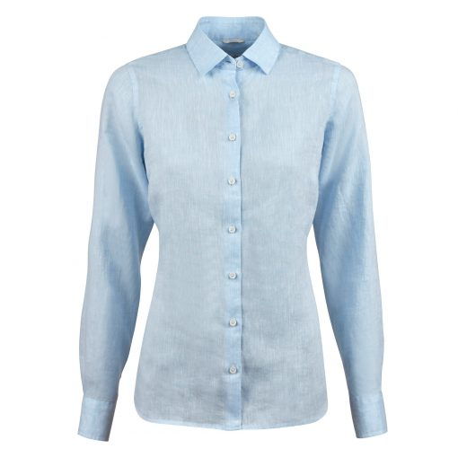 Stenströms Sofie Linen Shirt Light Blue