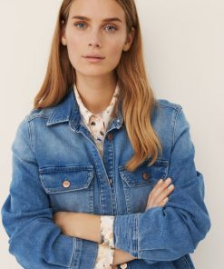 Part Two Hilborg Jacket Blouse Light Blue Denim
