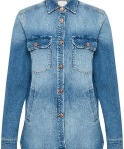 Part Two Hilborg Jacket Blouse Light Blue Denim