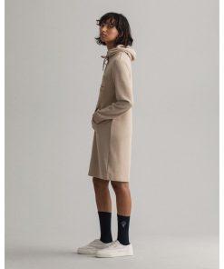Gant Woman Archive Shield Hoodie Dress Dry Sand