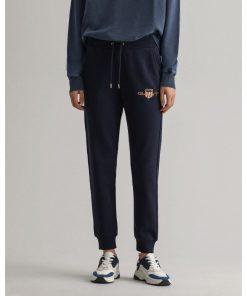 Gant Woman Archive Shield Sweatpants Evening Blue