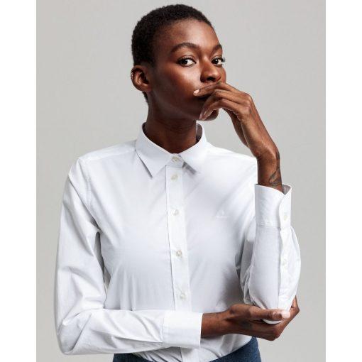 Gant Woman Solid Stretch Shirt White