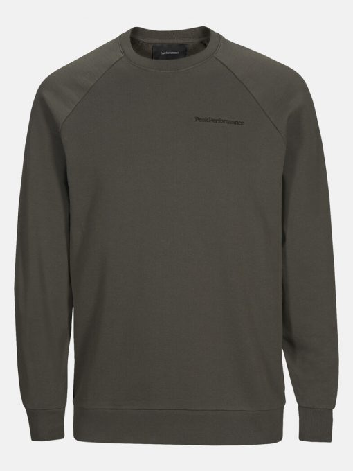 Peak Performance Moment Crew Men Black Olive