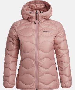 Peak Performance Helium Hood Jacket Women Warm Blush