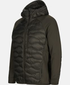 Peak Performance Helium Hybrid Jacket Men Black Olive